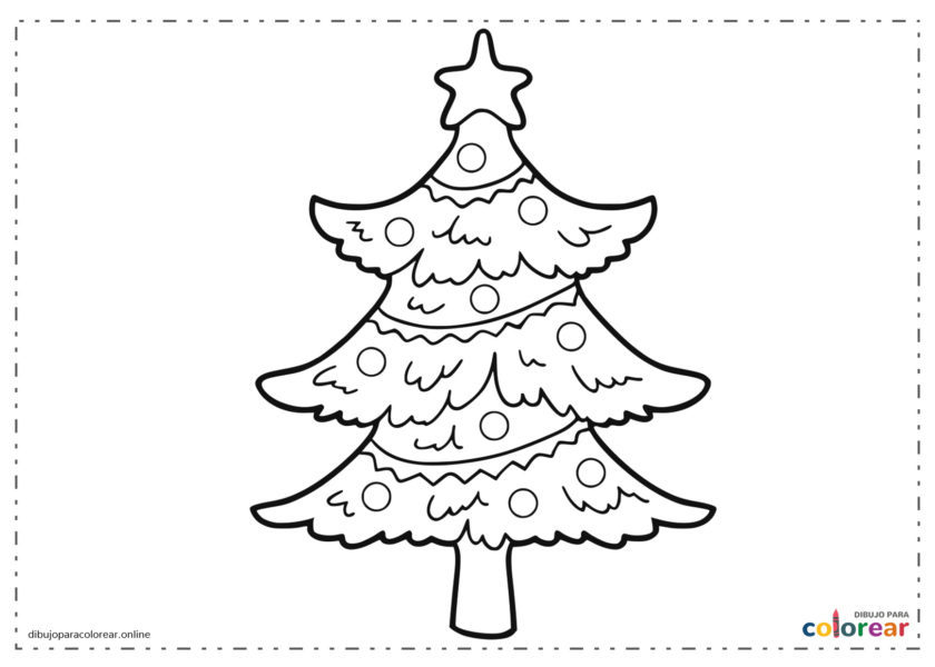 Árbol de Navidad con estrella en lo alto