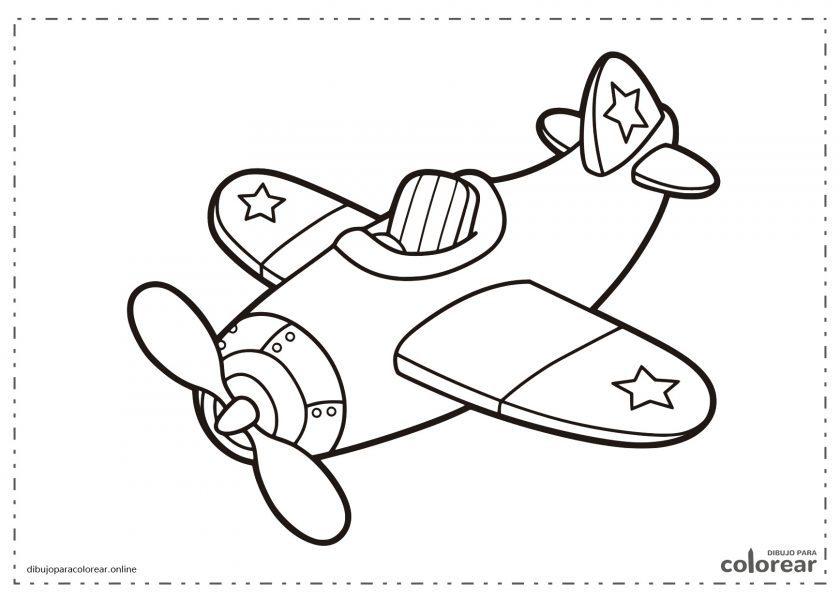 Avión fácil de pintar para niños