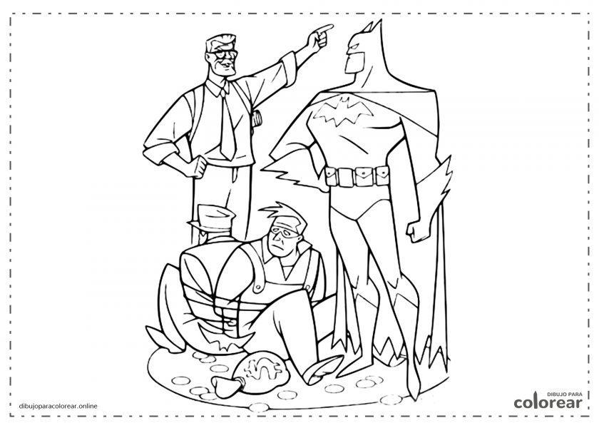 Batman deteniendo a criminales