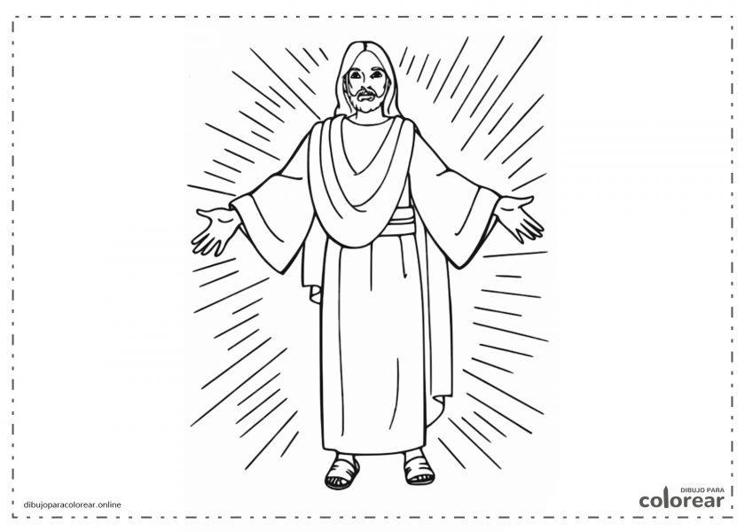 Jesucristo vestido con su túnica
