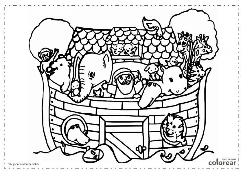 Arca de Noé con los animales a bordo