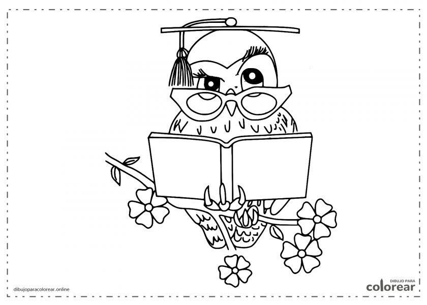 Profesor Búho con un libro