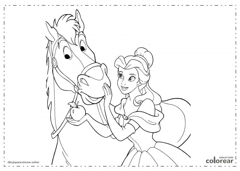Caballo de Disney con la princesa Cenicienta