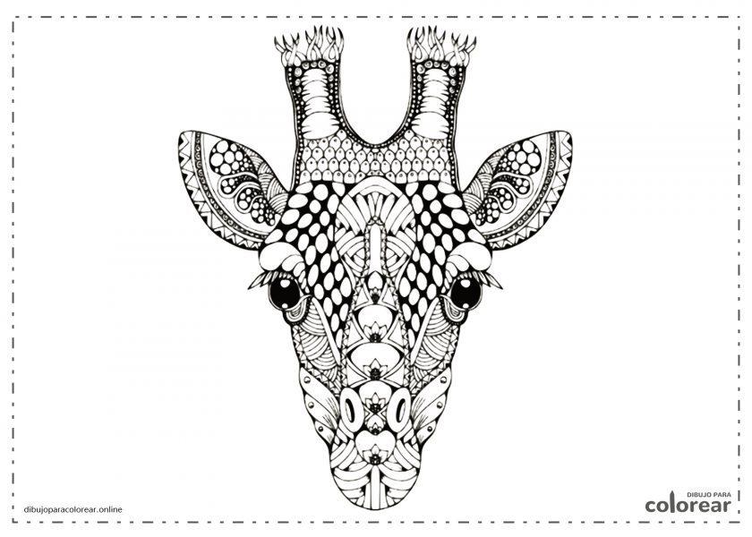 Mandala de cabeza de jirafa