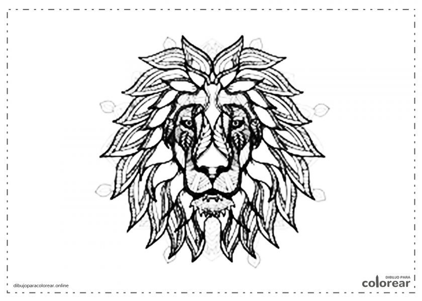 Mandala de cabeza de león