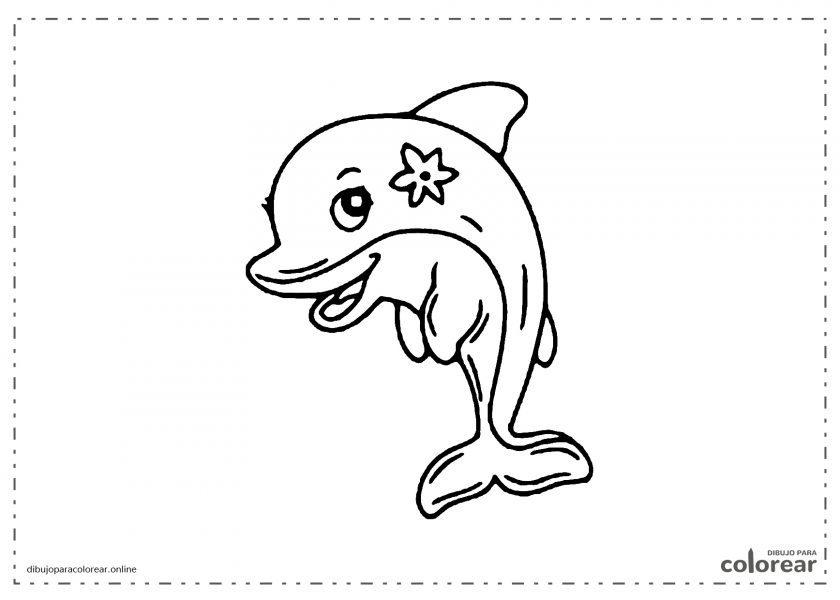 Delfina con una flor