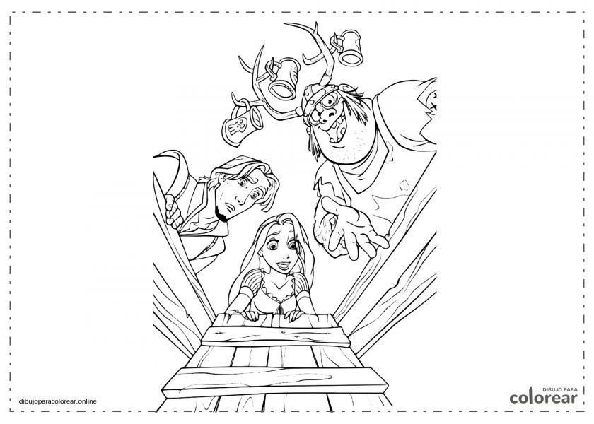 Rapunzel y Flynn Rider, de Enredados