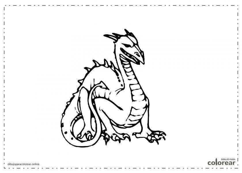 Dragón enfadado y peligroso