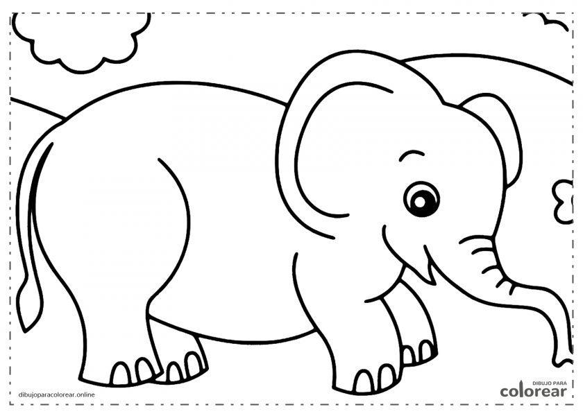 Elefante paseando por el campo con flores
