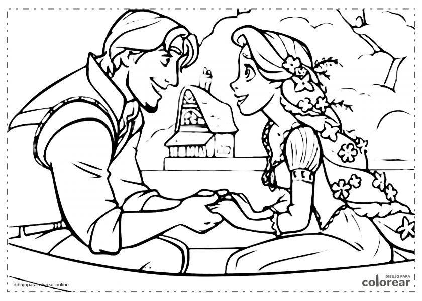 La princesa Rapunzel y Flynn Rider, de Enredados de Disney