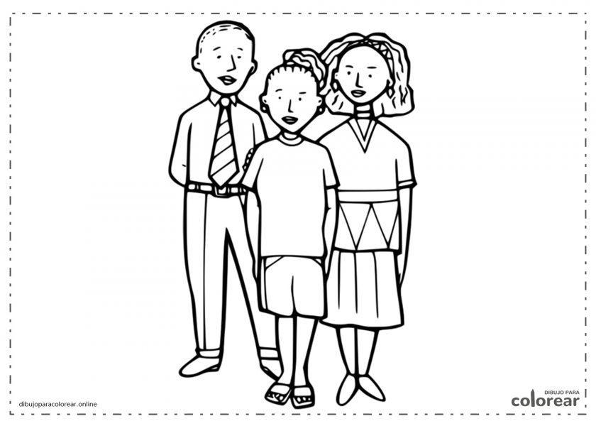 Familia formada por los padres y su hijo o hijo adolescente
