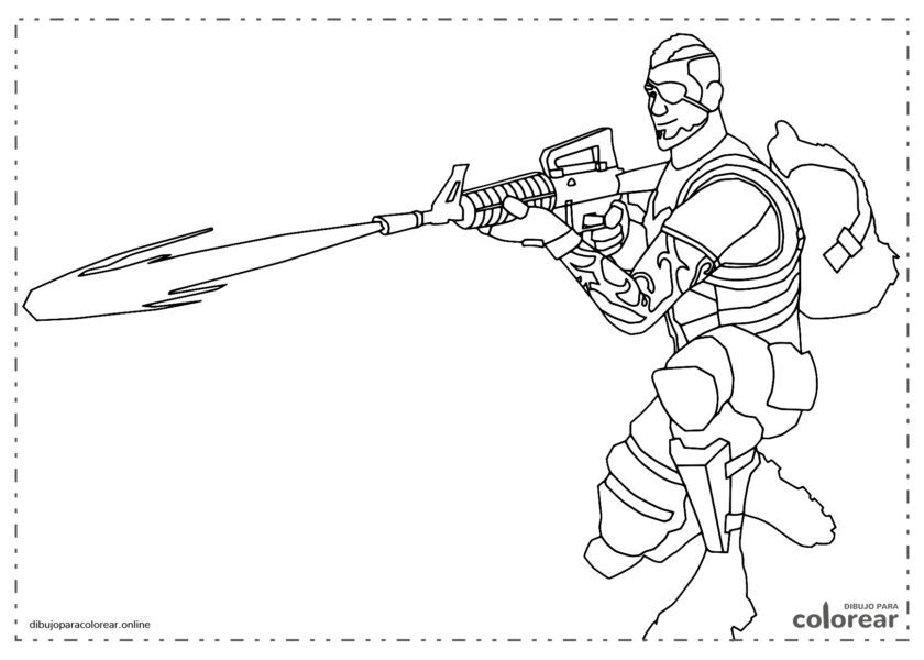 Jugador de Fortnite con lanzallamas