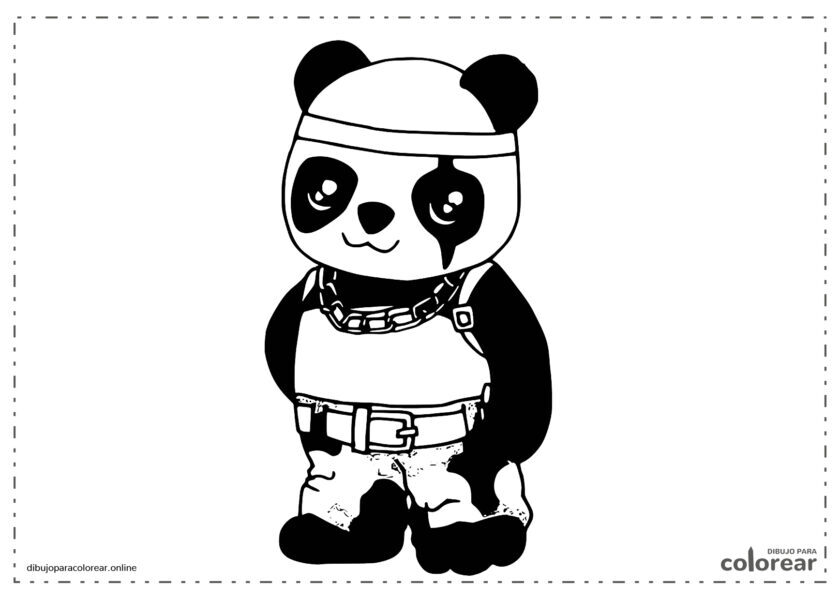 Panda kawaii de free fire