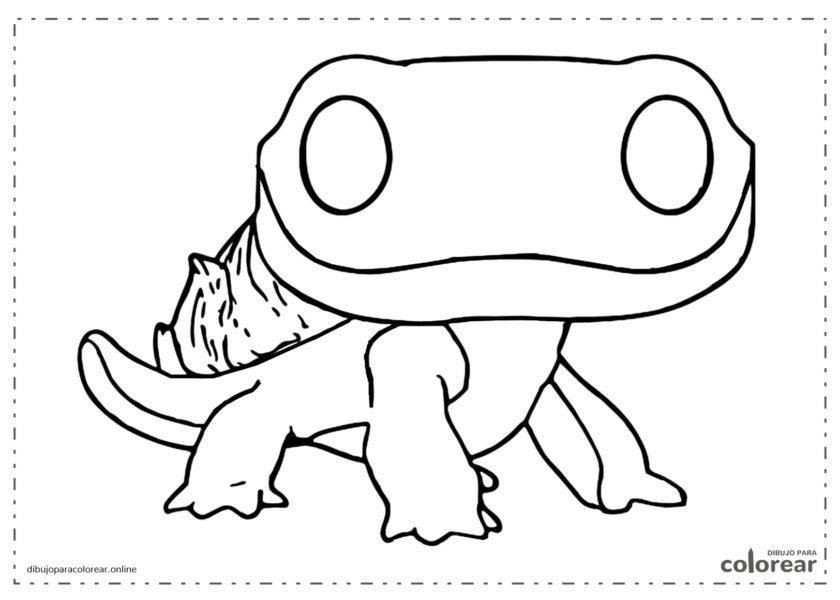 Funko Pop de una salamandra del Espíritu del Fuego de Frozen
