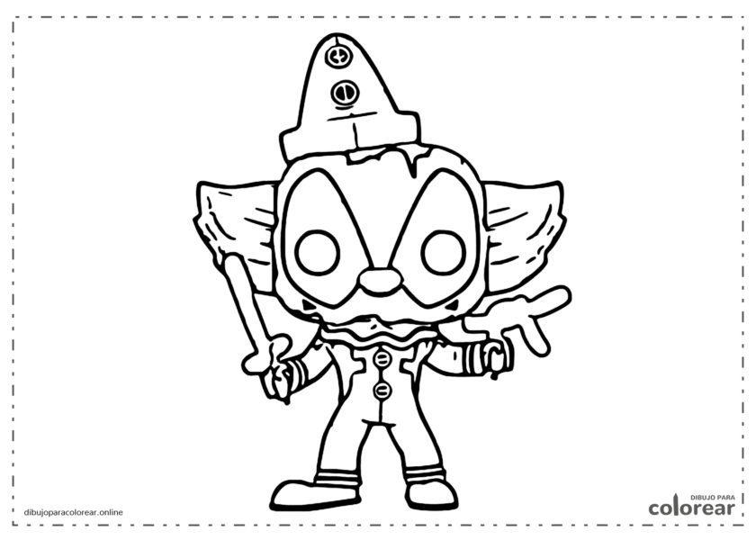Funko Pop de Deadpool (vestido de payaso)