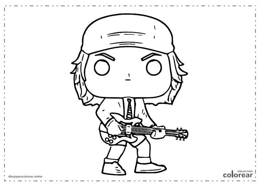 Funko Pop de Angus Young de AC/DC