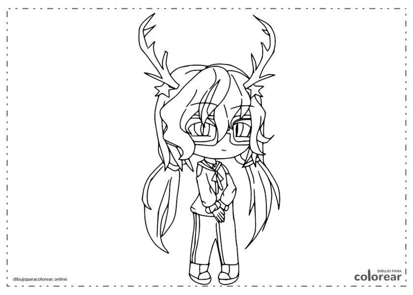 Alexa con cuernos de ciervo y gafas