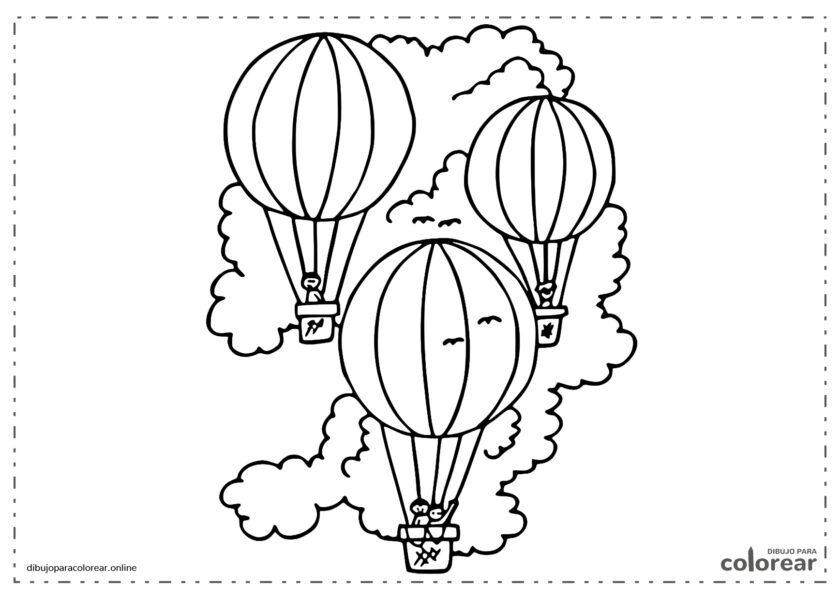 3 globos aerostáticos