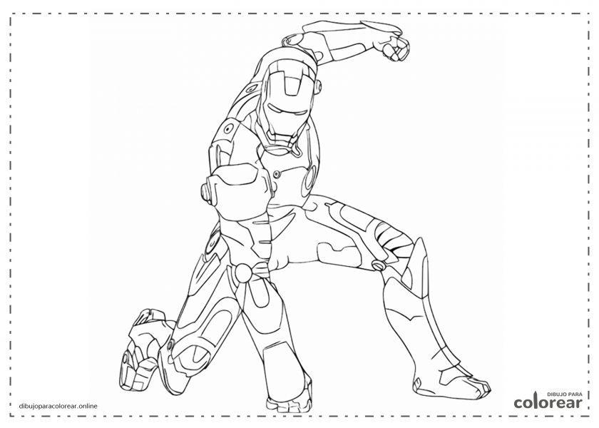 Iron Man dando un golpe en el suelo