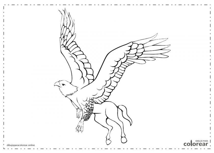 Grifo mitológico volando