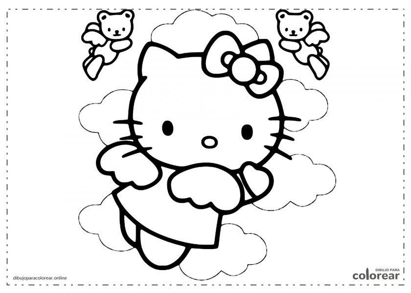 Helloy Kitty volando junto a otros ositos