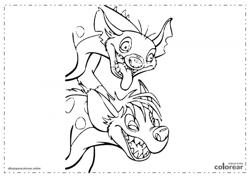 Shenzi y Banzai, hienas de la película de El Rey León de Disney