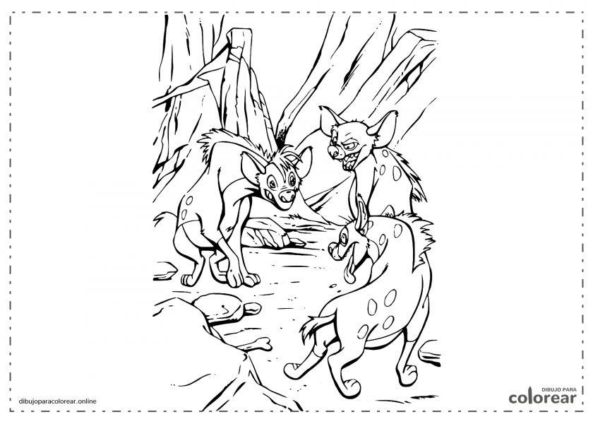 Hienas de El Rey León: Shenzi, Banzai y Ed