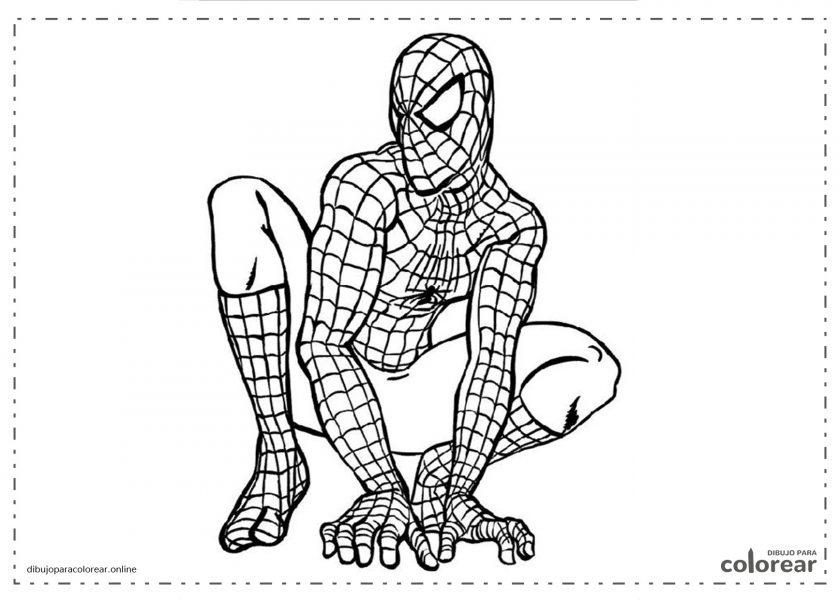 El hombre araña (Spiderman) sentado