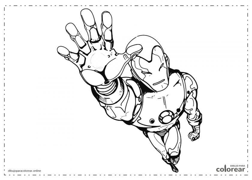 El hombre de hierro (Iron Man) volando