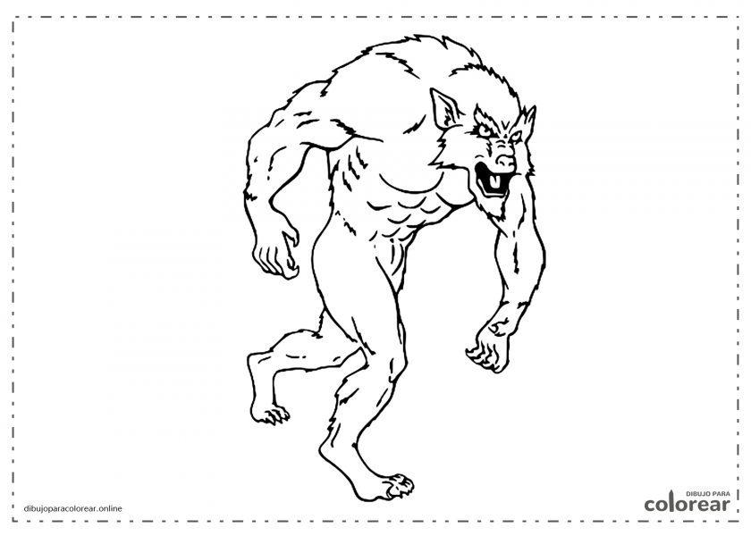 Hombre lobo de pie