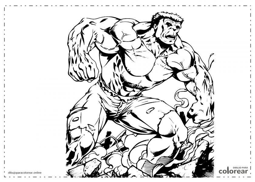 Hulk enseñando su fuerza
