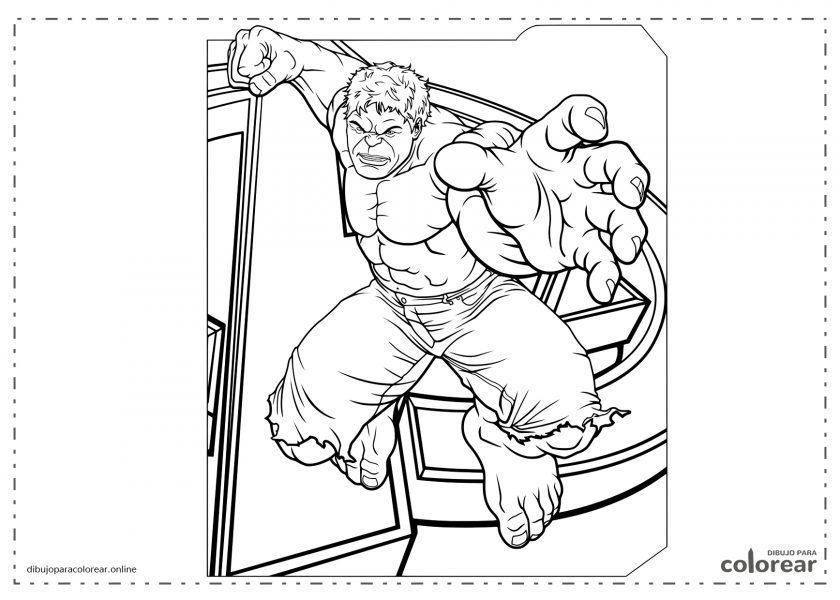 El increíble Hulk saltando
