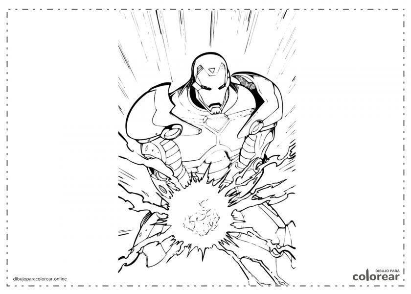 Iron Man con su ataque de bola