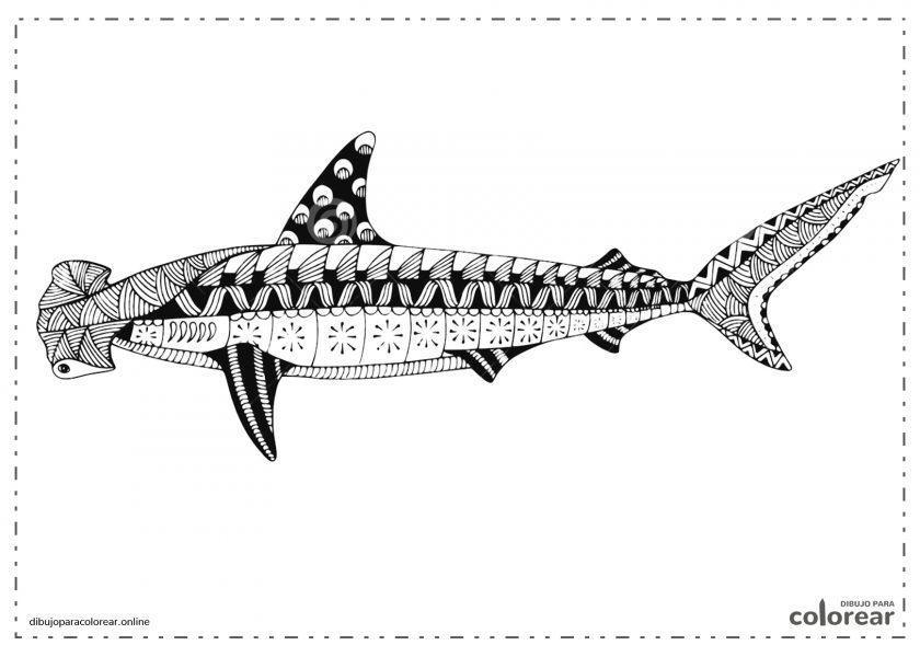 Mandala de tiburón martillo