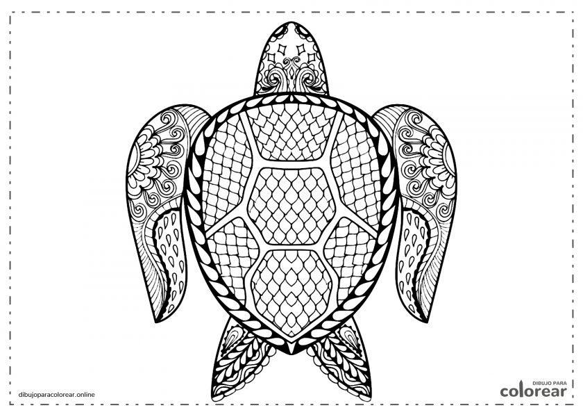 Mandala de una tortuga