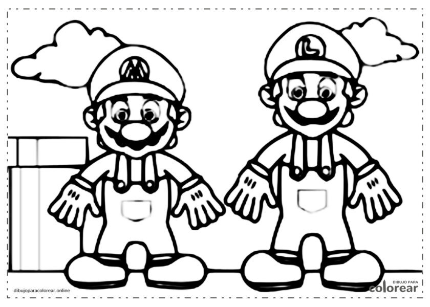 Mario y Luiggi, los hermanos fontaneros de Nintendo
