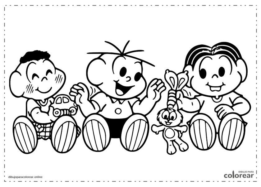Mónica con Cebollita y Cascarón jugando con el conejo
