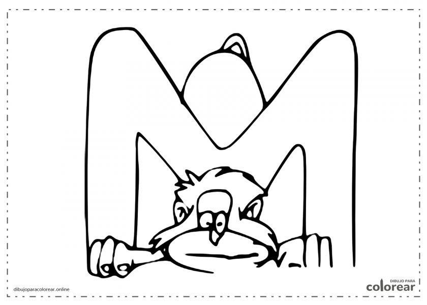Mono haciendo la letra M