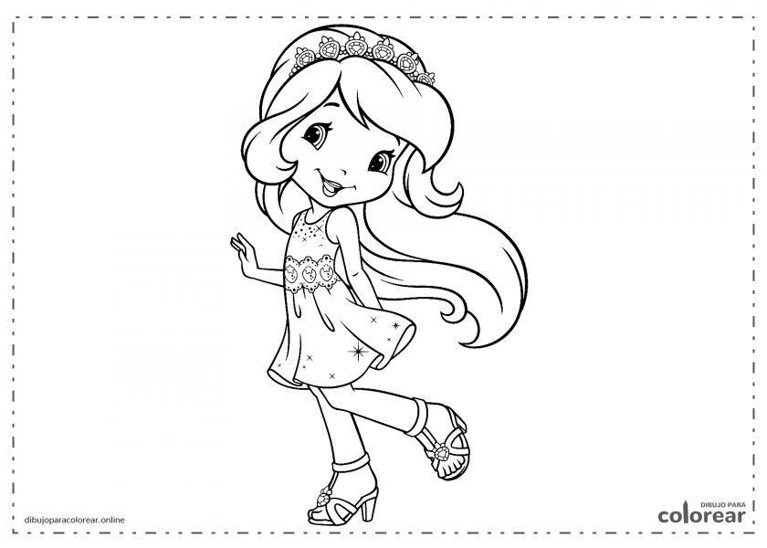 Niña vestida de princesa