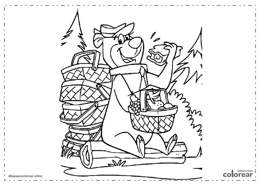 Oso Yogui de dibujos animados en el parque de Yellowstone