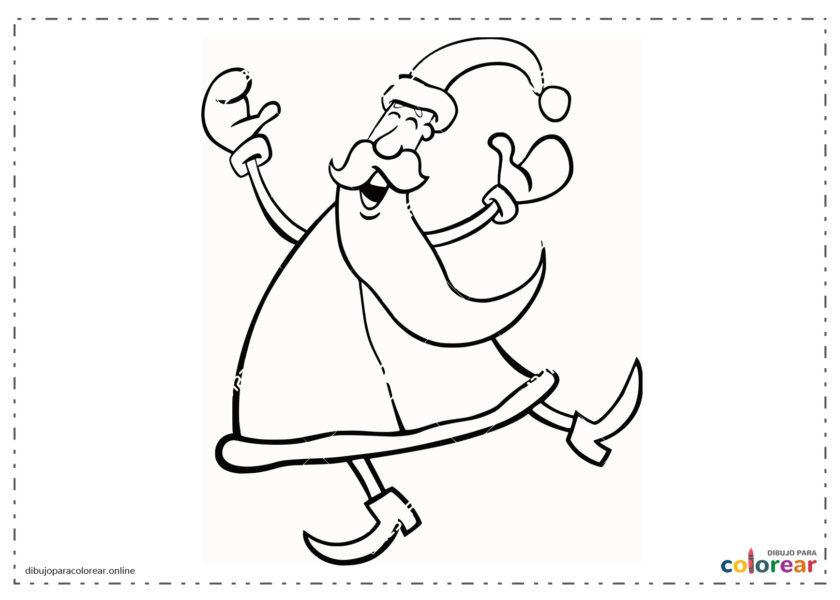 Papá Noel bailando