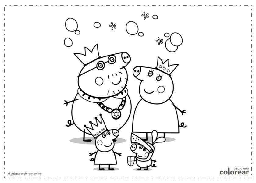 Peppa Pig jugando a reyes medievales