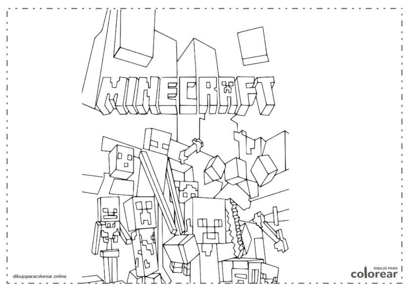 Portada de Minecraft para pintar