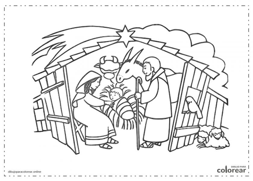 El portal de Belén con la mula y el buey