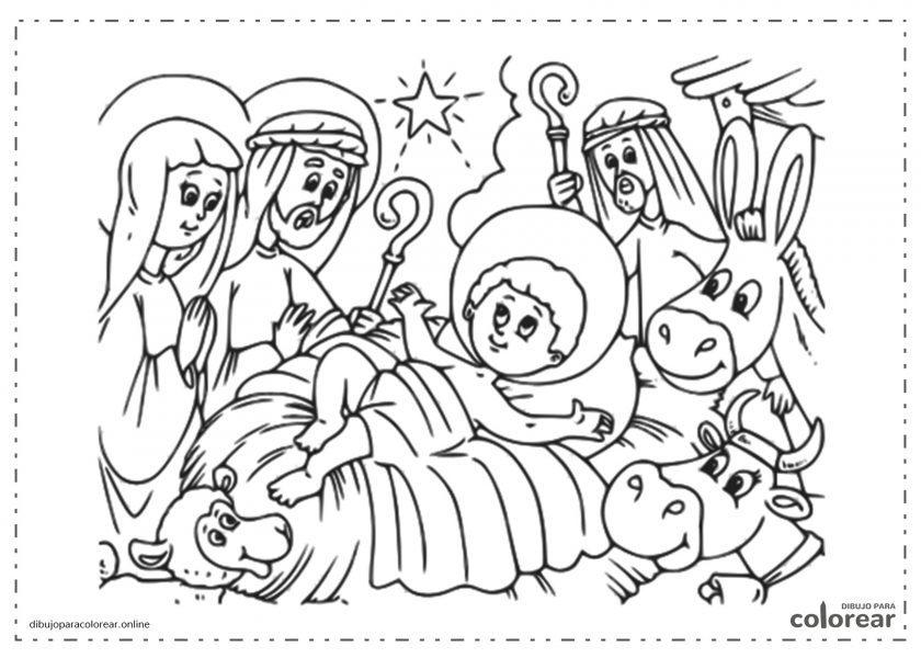 El portal de Belén con el niño Jesús