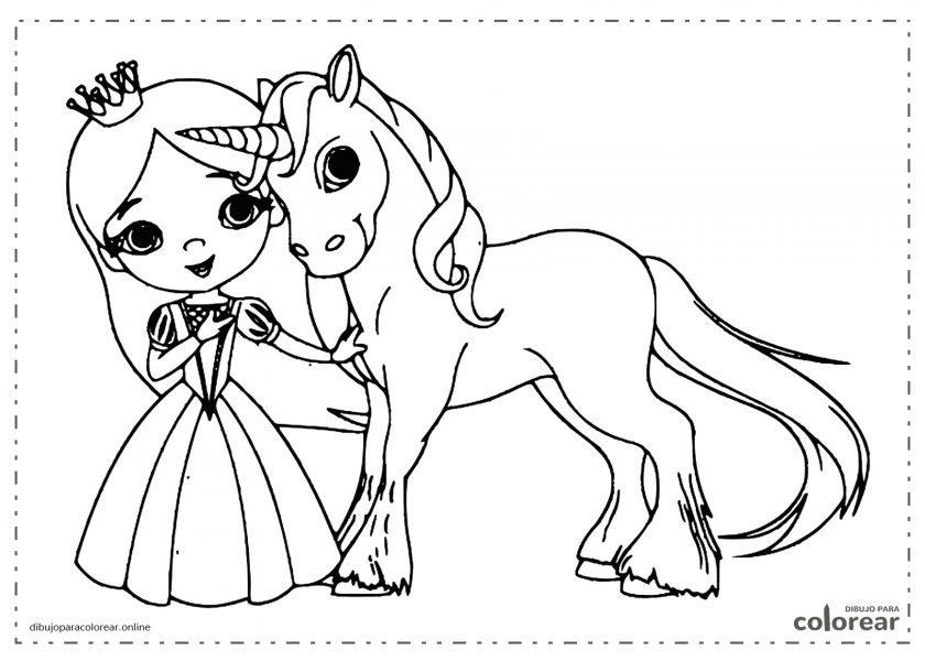 Princesa con un unicornio