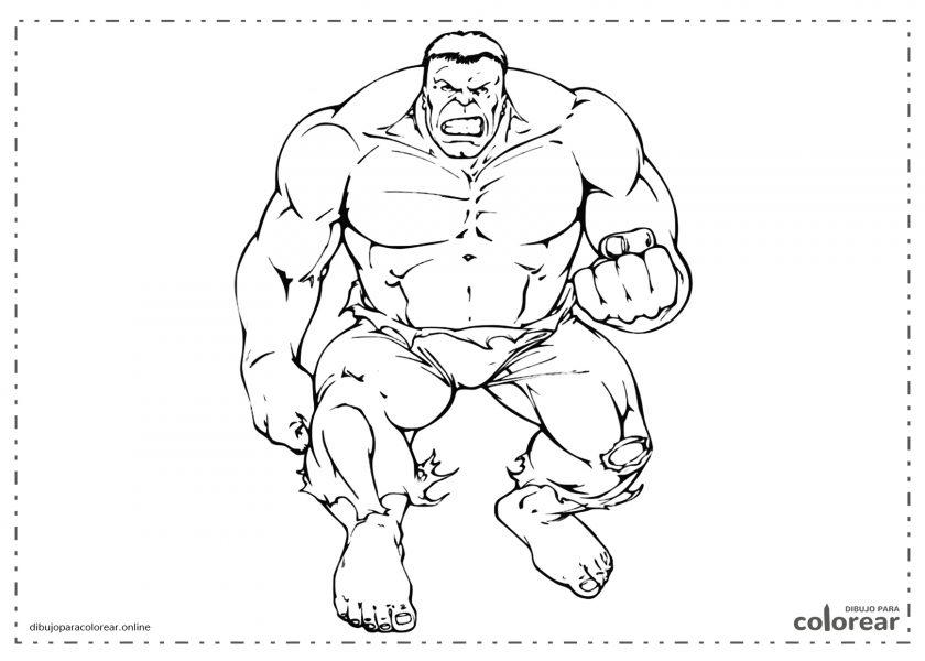 Hulk preparado para dar un puñetazo