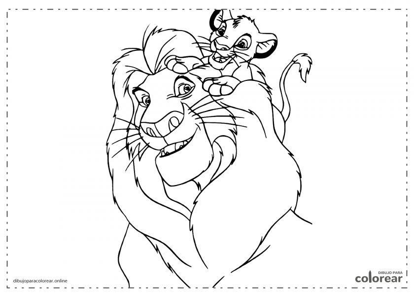Simba y Mufasa, dibujos animados El Rey León