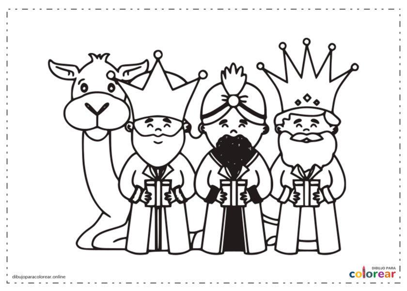 Reyes Magos con un camello detrás