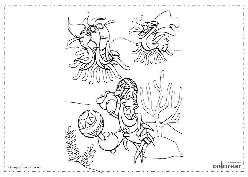 """Sebastián, el cangrejo de La Sirenita, cantando """"Bajo el mar"""""""